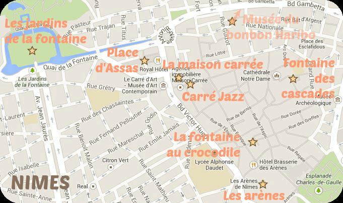Carte Nîmes 1