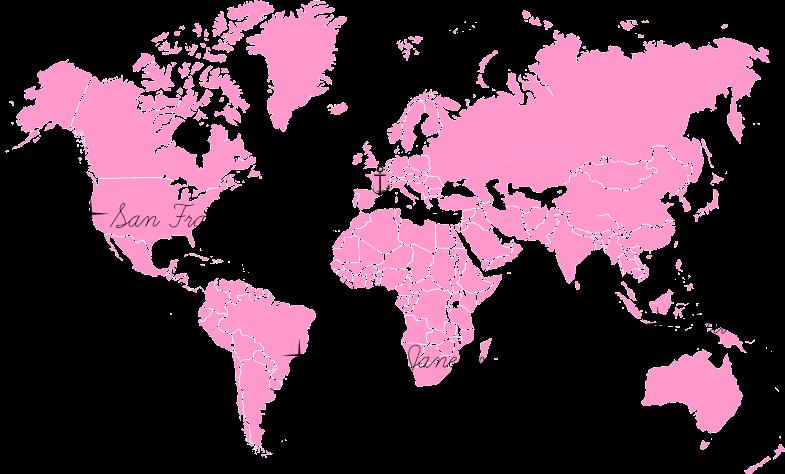 Carte monde top 3
