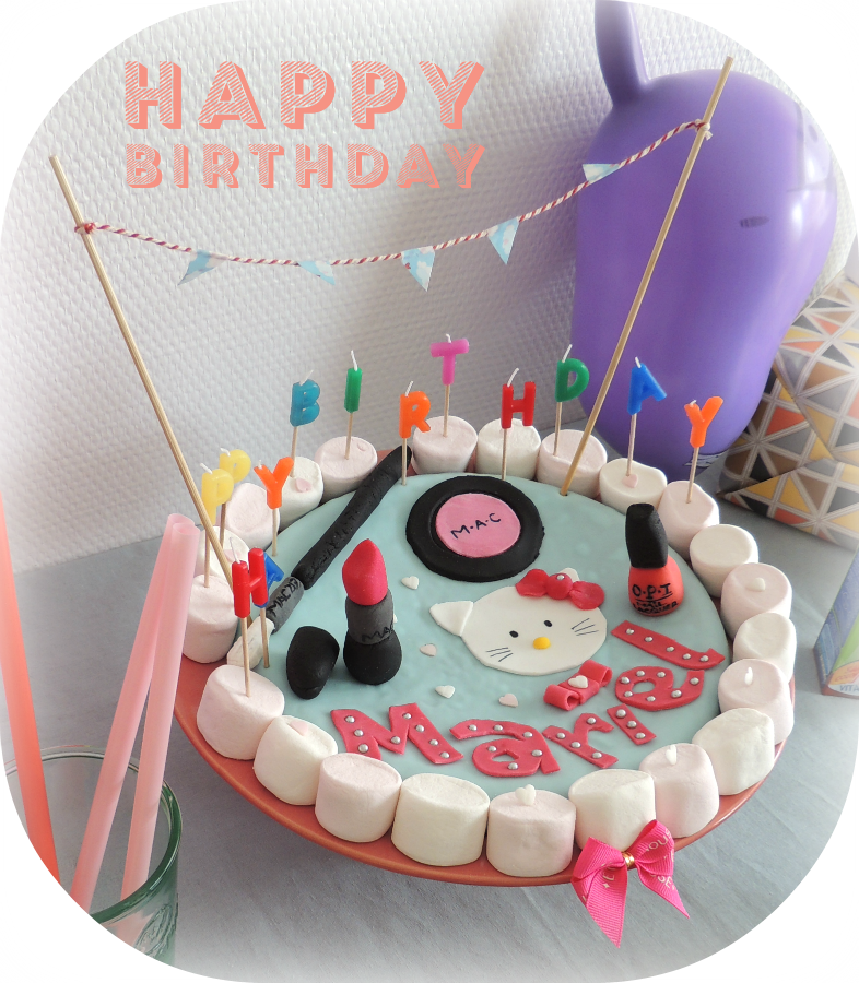 Super DIY : un gâteau d'anniversaire maquillage - Best of Vanity KT71