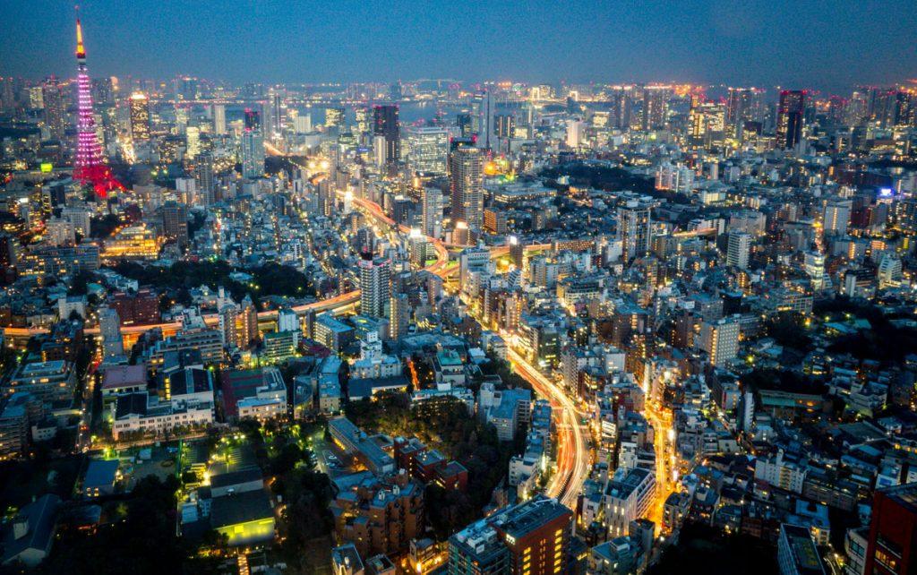 Vue depuis la Tokyo City View