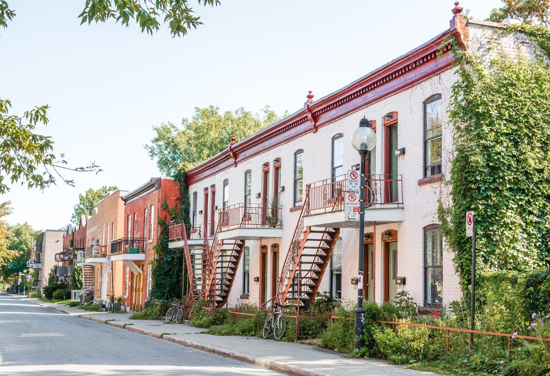 Les rues du quartier du plateau Montreal